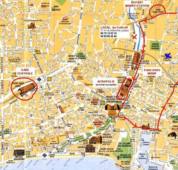 Nice2000 Map of Nice