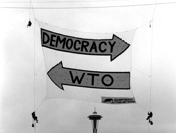 democracy or wto, Battle of Seattle, 1999