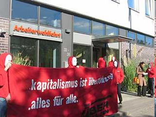 Wir wollen Alles! Überflüssigen-Aktionen gegen Hartz-IV-Repressionen
