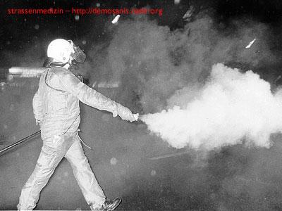 Tränengas Wirkung